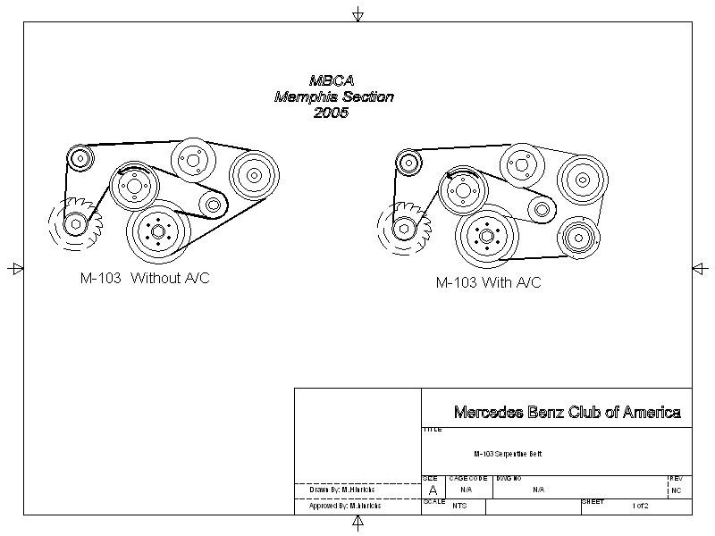 1992 190e belt diagram mercedes benz club of america. Black Bedroom Furniture Sets. Home Design Ideas