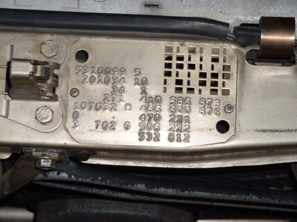 PLAQUETA IDENTIFICAÇÃO 500 SL 7001840_190e_2.3-16v_Build_Plate