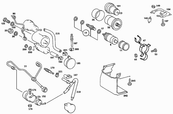 mercedes 300d vacuum diagram