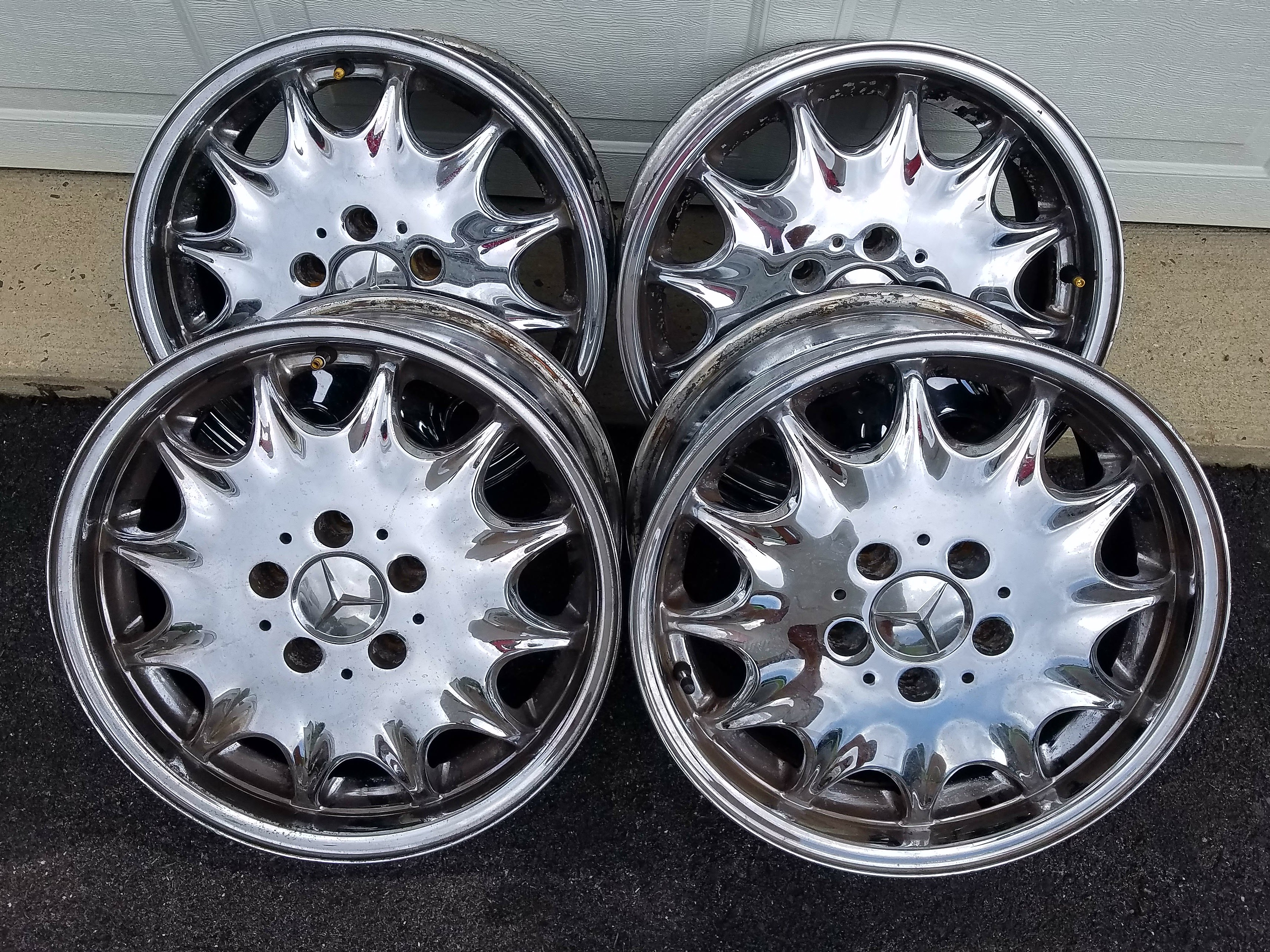 Mercedes Benz Chrome Wheels 16 For R129 Vehicles Mbca
