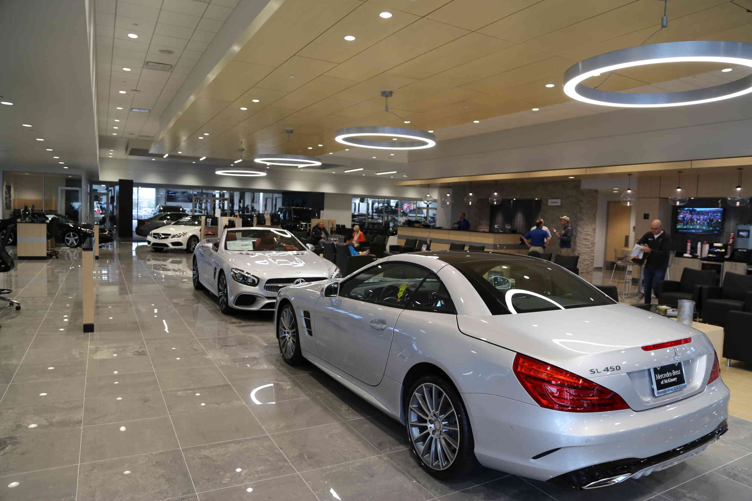 open house at the new mercedes benz dealership in mckinney