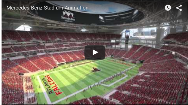 Atlanta falcons 39 new home to be mercedes benz stadium for Atlanta ga mercedes benz stadium