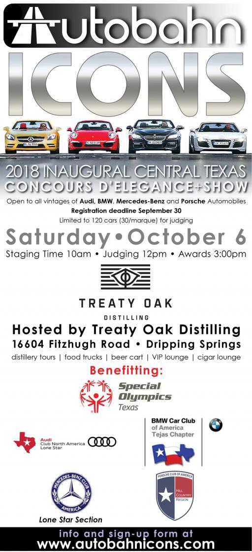 Inaugural Central Texas Concours DElegance Show MBCA - Mercedes tx car show
